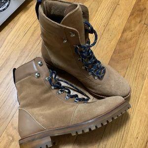HM genuine leather combat boots